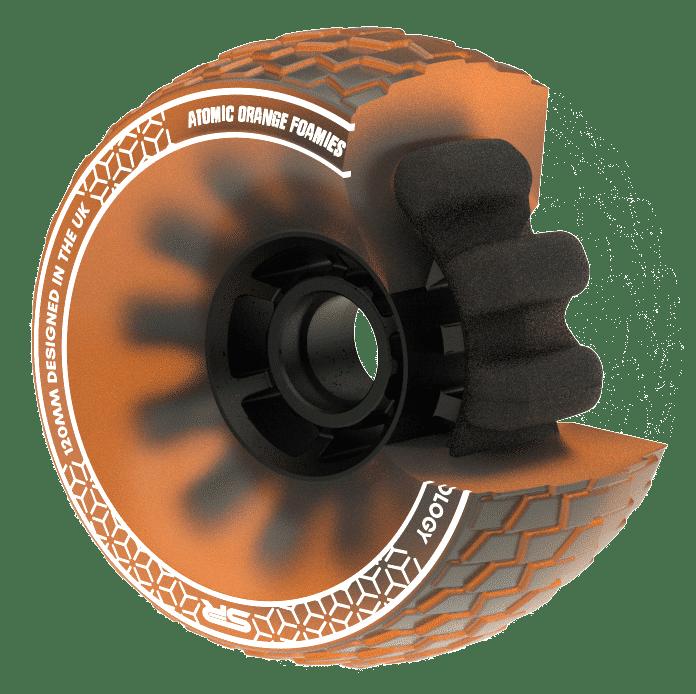 Slick Revolution Foamies 120mm 78a Atomic Orange - Sverige